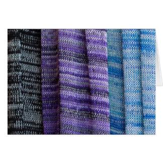 colored cloth card