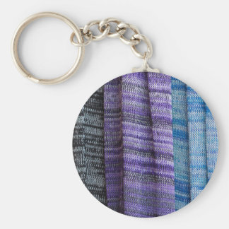 colored cloth key ring