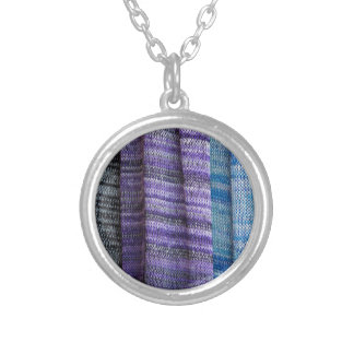 colored cloth silver plated necklace