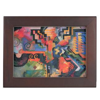 """Colored Composition"" Art custom keepsake box"