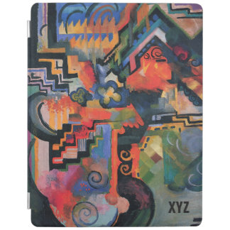 """Colored Composition"" Art custom monogram covers iPad Cover"