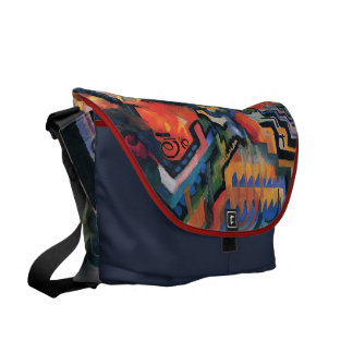 """Colored Composition"" Art messenger bags"