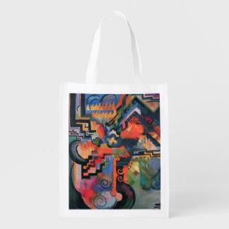"""""""Colored Composition"""" Art reusable bag"""