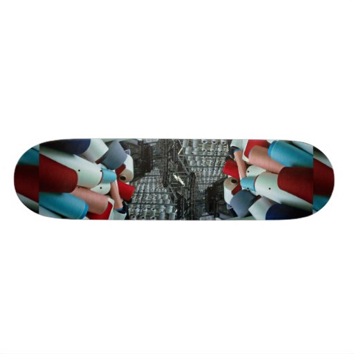 Colored cottons, texture skateboards