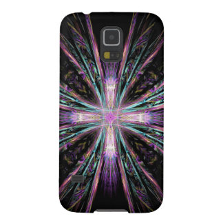 Colored Cross Fractal Galaxy S5 Cover