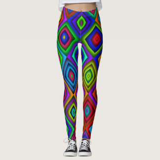 colored diamond leggings