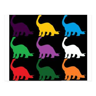 Colored Dinos Postcard