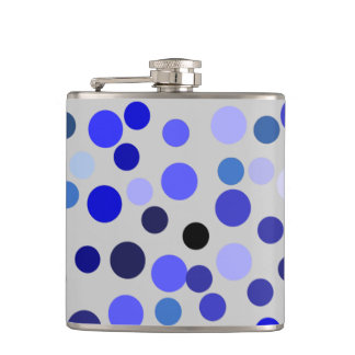 Colored dots hip flask