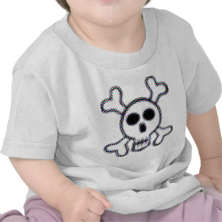 Colored Dots Skull and Crossbones Shirts