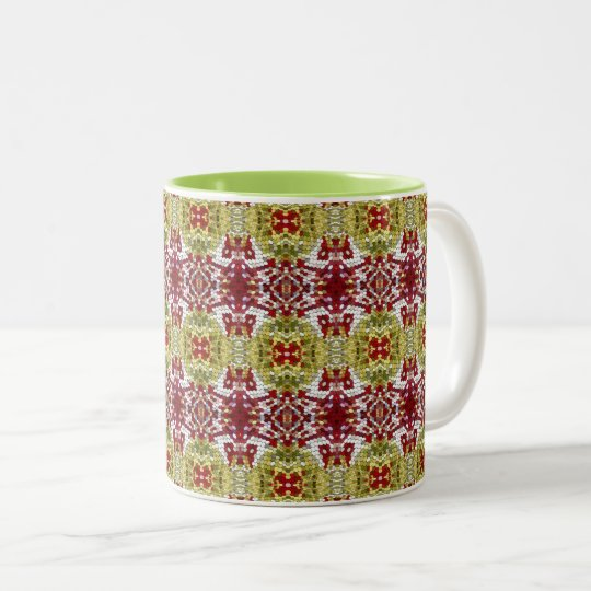 Colored Dots Two-Tone Coffee Mug