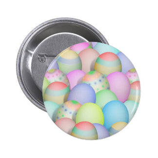 Colored Easter Eggs Background 6 Cm Round Badge