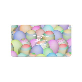 Colored Easter Eggs Background Address Label