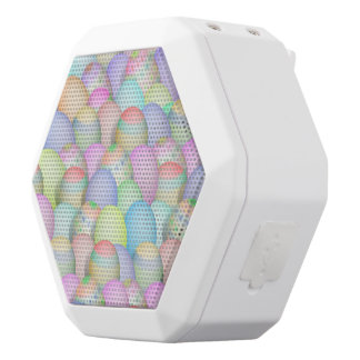 Colored Easter Eggs Background White Boombot Rex Bluetooth Speaker