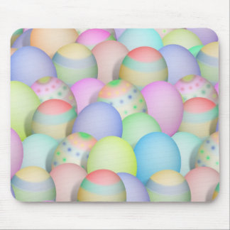 Colored Easter Eggs Background Mouse Pad