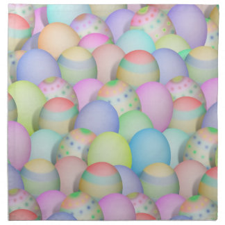 Colored Easter Eggs Background Napkin