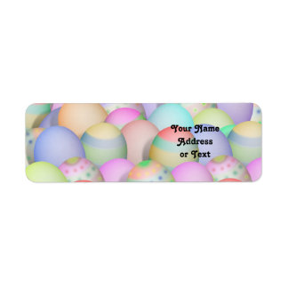 Colored Easter Eggs Background Return Address Label