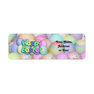 Colored Easter Eggs - Happy Easter Return Address Label