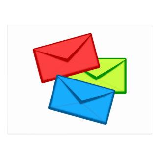 Colored Envelopes Postcard