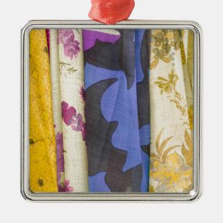 colored fabrics christmas ornament