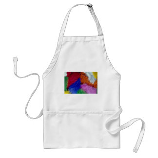 Colored feathers apron