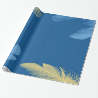 Colored Feathers Wrapping Paper