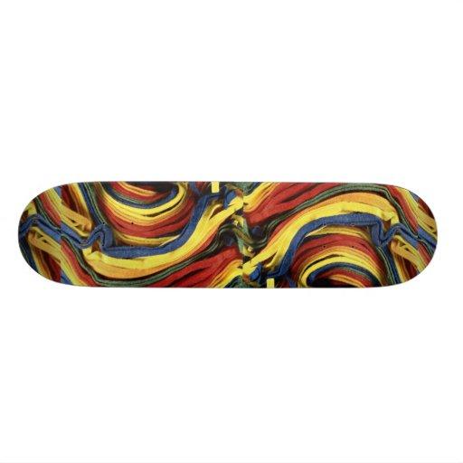 Colored felt skateboard deck