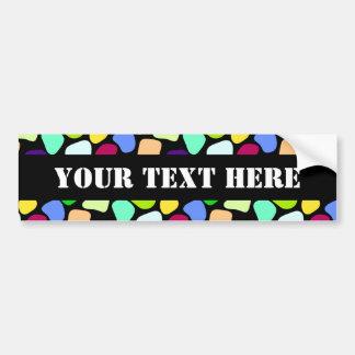 Colored Flat Stone Mosaic I + your ideas Bumper Sticker