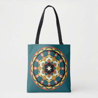 Colored Floral Mandala 060517_4 Tote Bag