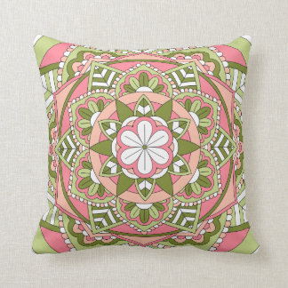 Colored Floral Mandala 061117_1 Cushion