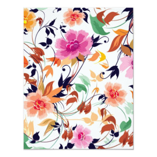 colored floral standard