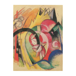 Colored Flowers (aka Abstract Forms) by Franz Marc Wood Print