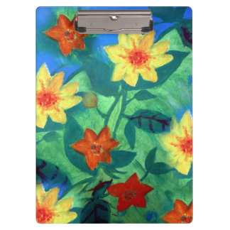 Colored Flowers Clipboard