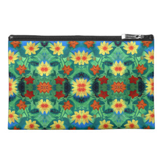 Colored Flowers Tavel Accessory Bag