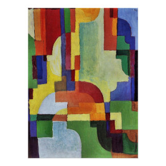 Colored forms (I) by August Macke Poster