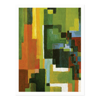 Colored Forms II by August Macke Postcard