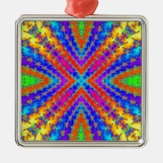 colored fractal kaleidoscope Art Christmas Ornament