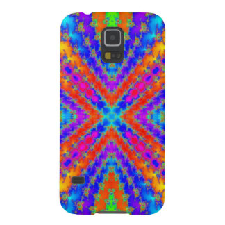 colored fractal kaleidoscope Art Galaxy S5 Covers