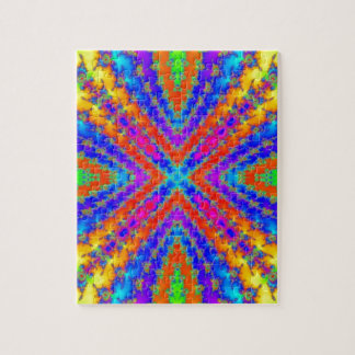 colored fractal kaleidoscope Art Jigsaw Puzzle