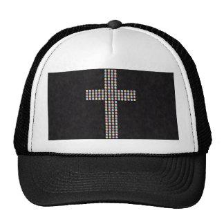 Colored Gem Cross Cap