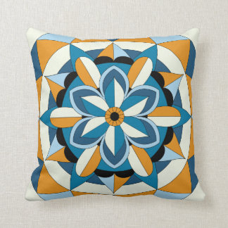 Colored Geometric Floral Mandala 060517_2 Cushion