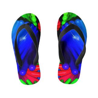 Colored Germs Antibacterial Flip Flops