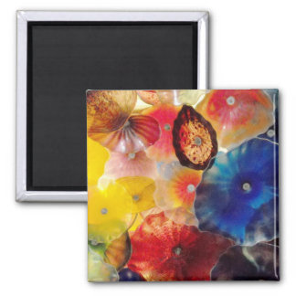 Colored Glass Square Magnet