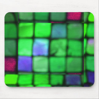 Colored Glass Tiles Mouse Pad
