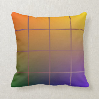Colored Grid Throw Pillow Cushions
