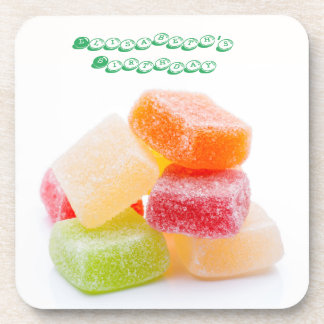 Colored Gummy Square Sweets Coaster