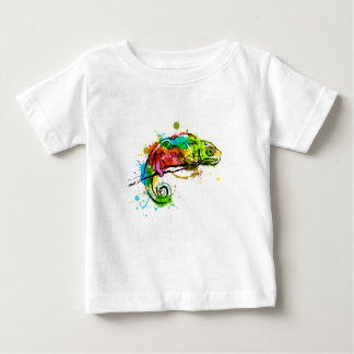 Colored hand sketch chameleon baby T-Shirt
