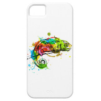 Colored hand sketch chameleon iPhone 5 covers