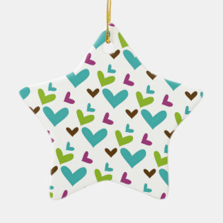 Colored Hearts Christmas Ornament