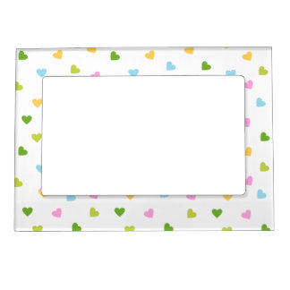 Colored Hearts Magnetic Frame