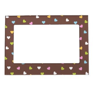 Colored Hearts Magnetic Picture Frame